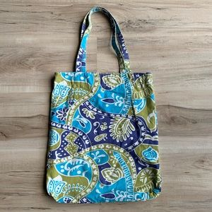 Old Navy Paisley Blue and Green Tote Bag